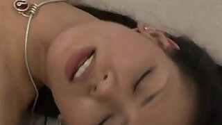 Kaede Matushima gets his cock and cum in mouth and dark hairy wet pussy