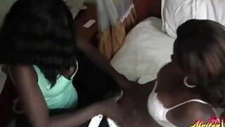 Kinky ebony lesbians going really soft