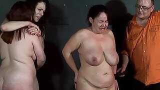 Three slavegirls whipping and extreme punishment to tears of amateur slavesluts