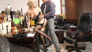 Teamskeet Sexy busty blonde Donna Bell office deepthroat and anal sex
