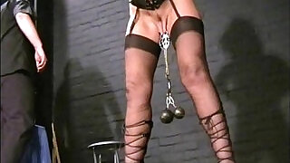 Submissive Crystel Leis tit torments and pussy punishment of blonde girl b