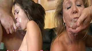 Two Dicks Humping Two Slutty Throats