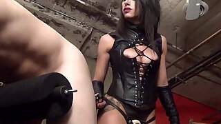 Femdom strapon pegging from Mistress Tangent