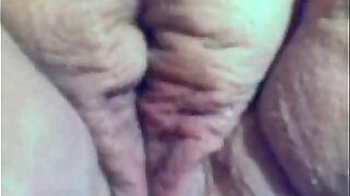 Fat chubby girlfriend masturbating her wet pussy and hard wet clit