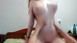 Teen brunette babe with her nice natural tits