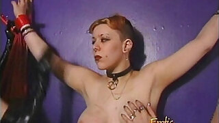 Kinky lesbian threesome featuring latex clad and horny sex bombs