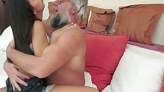 Teen getting fucked by geriatrics cock from behind