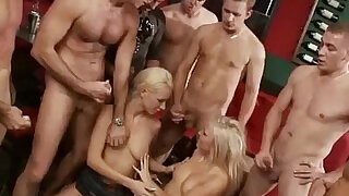 Double penetration party orgy