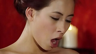 Skillful Asian babe gives handjob and fuck