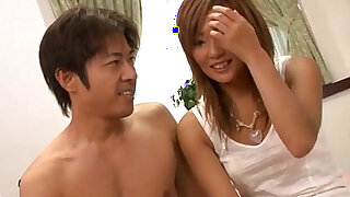 Erena Kurosawa in hot pants strips to have her pussy filled with meat
