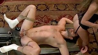 Extreme fantasy of girl bound and double penetrated