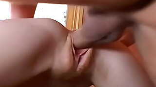 Hot Redhead Visits her Teachers House to Study his Cock