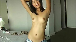 Luscious Asian ex girlfriend with tiny pussy