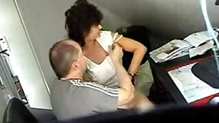 Video from hidden cam mature gets fucked hard at office table